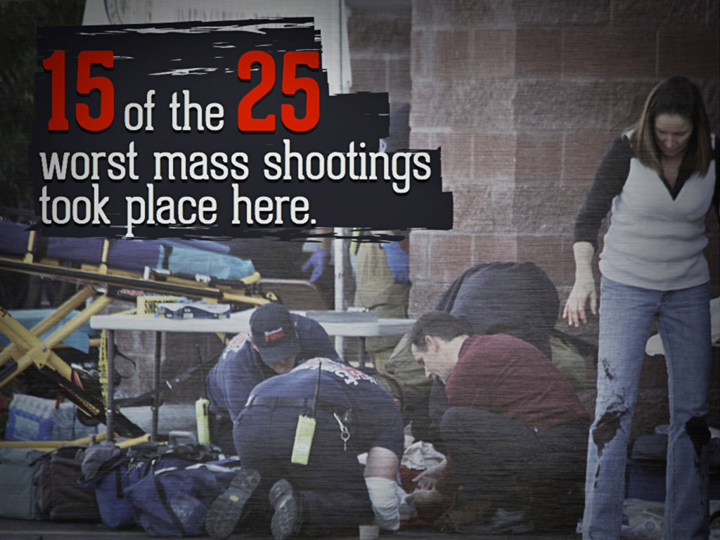 15 of the 25 worst mass shootings took place he...