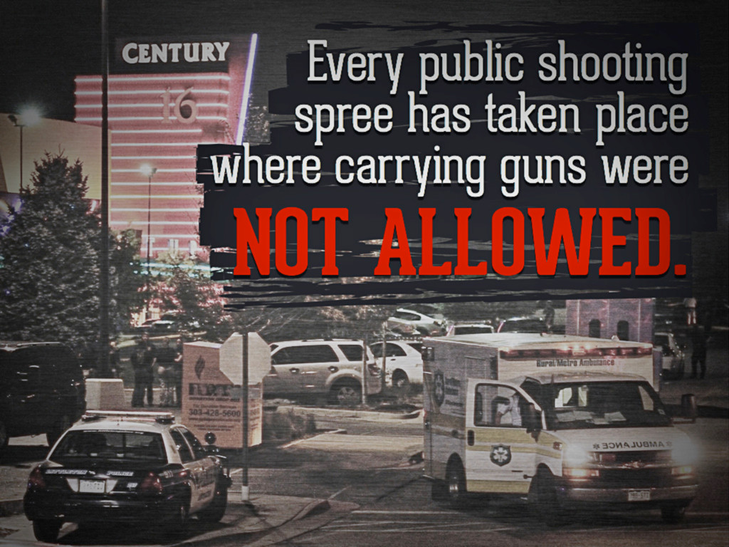 Every public shooting spree has taken place whe...