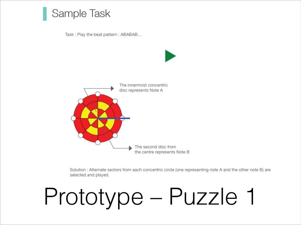 Prototype – Puzzle 1