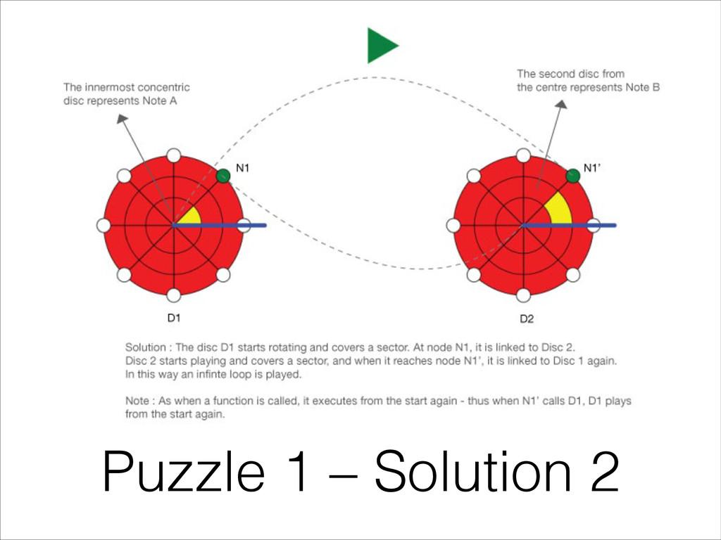 Puzzle 1 – Solution 2