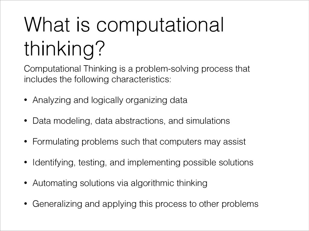What is computational thinking? Computational T...