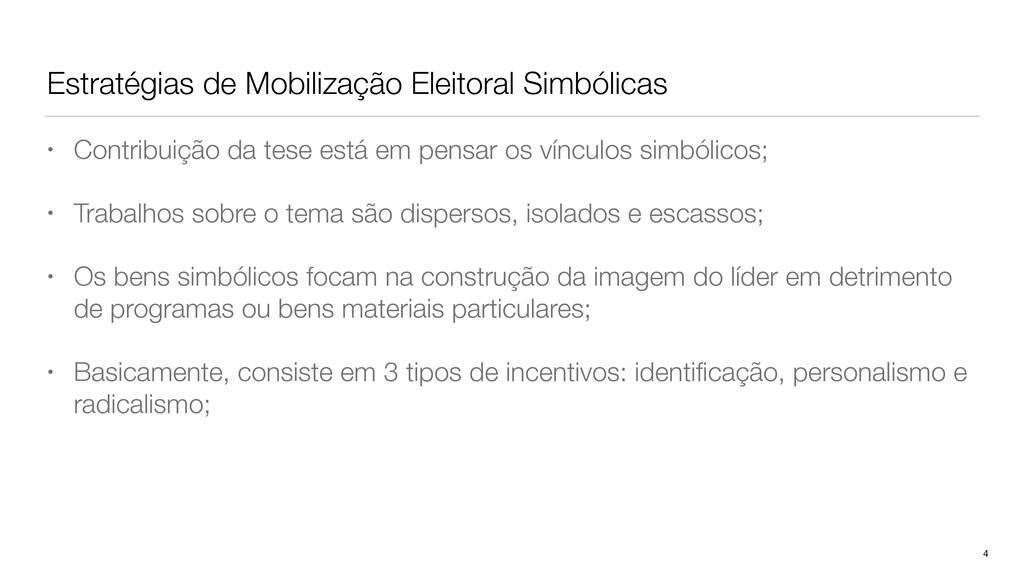 Estratégias de Mobilização Eleitoral Simbólicas...