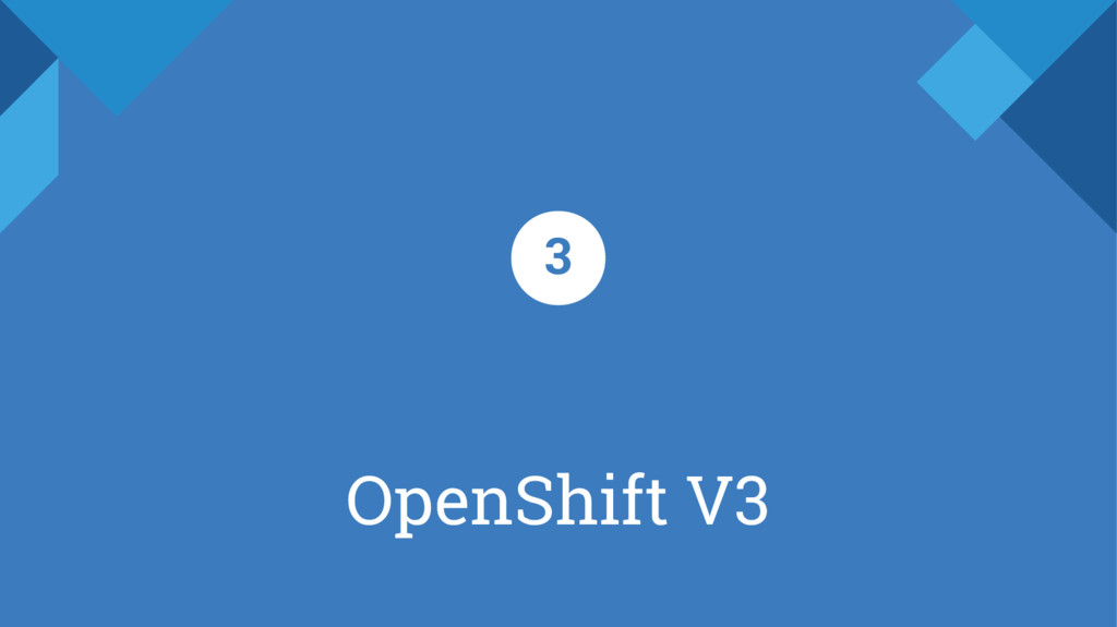 OpenShift V3 3