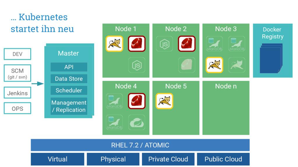 Master API Data Store Scheduler Jenkins DEV SCM...