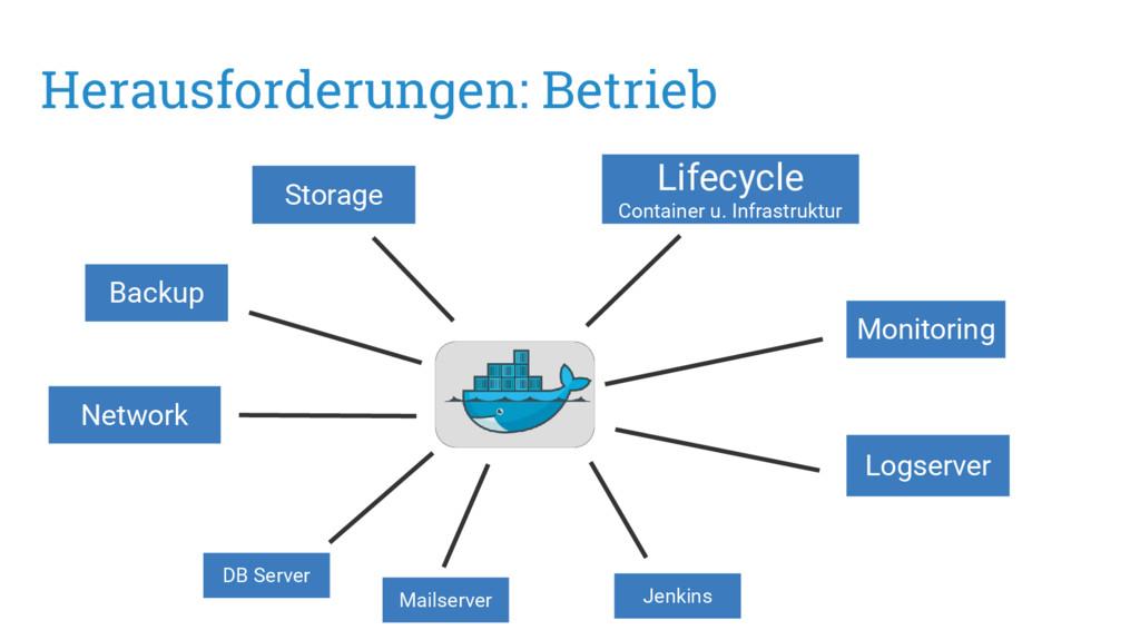 Herausforderungen: Betrieb Monitoring Logserver...