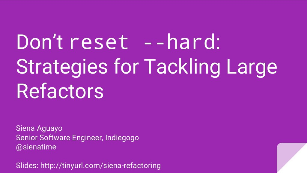 Don't reset --hard: Strategies for Tackling Lar...