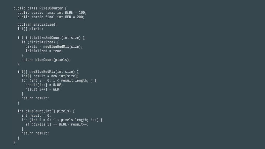 }a int blueCount(int[] pixels) { int result = ...