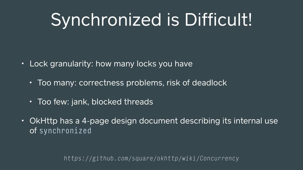 • Lock granularity: how many locks you have • T...