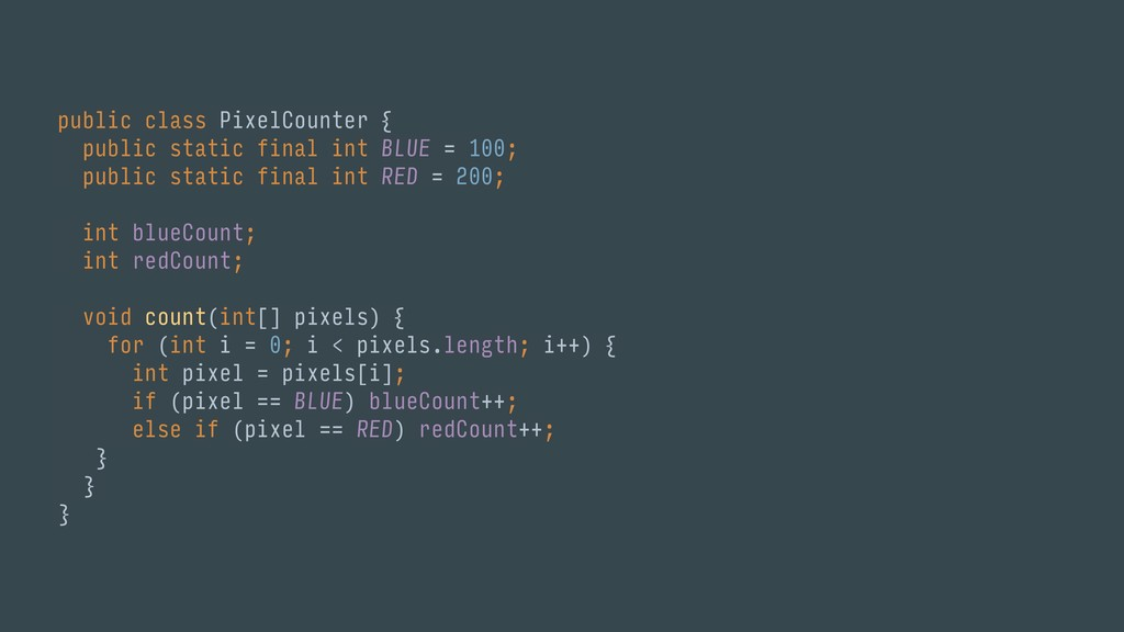public class PixelCounter { public static fina...