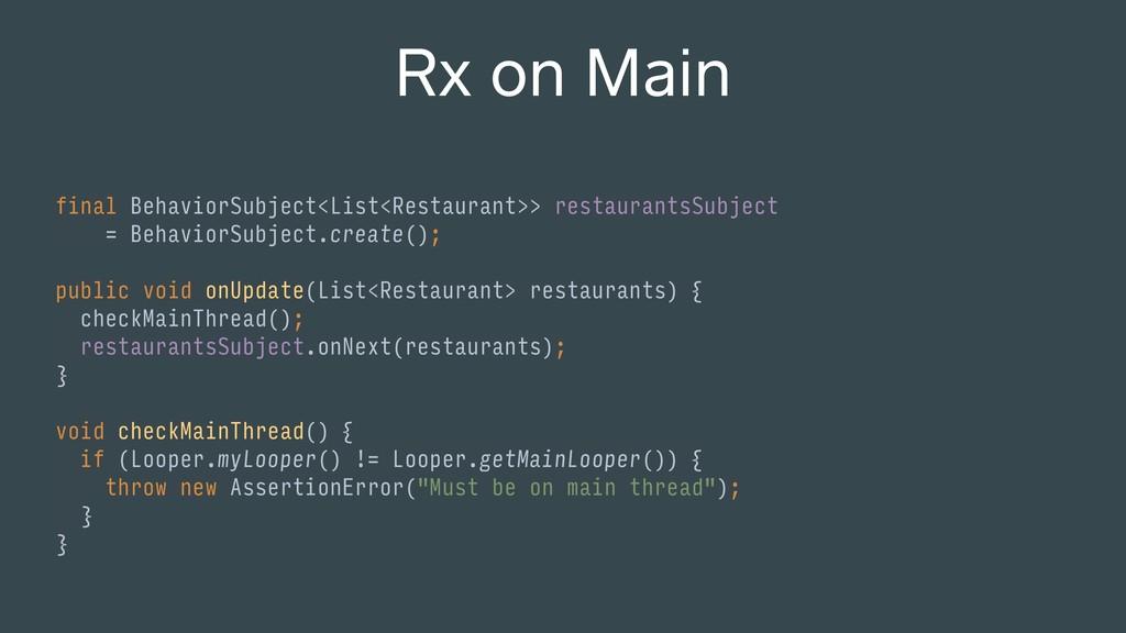 final BehaviorSubject<List<Restaurant>> restaur...