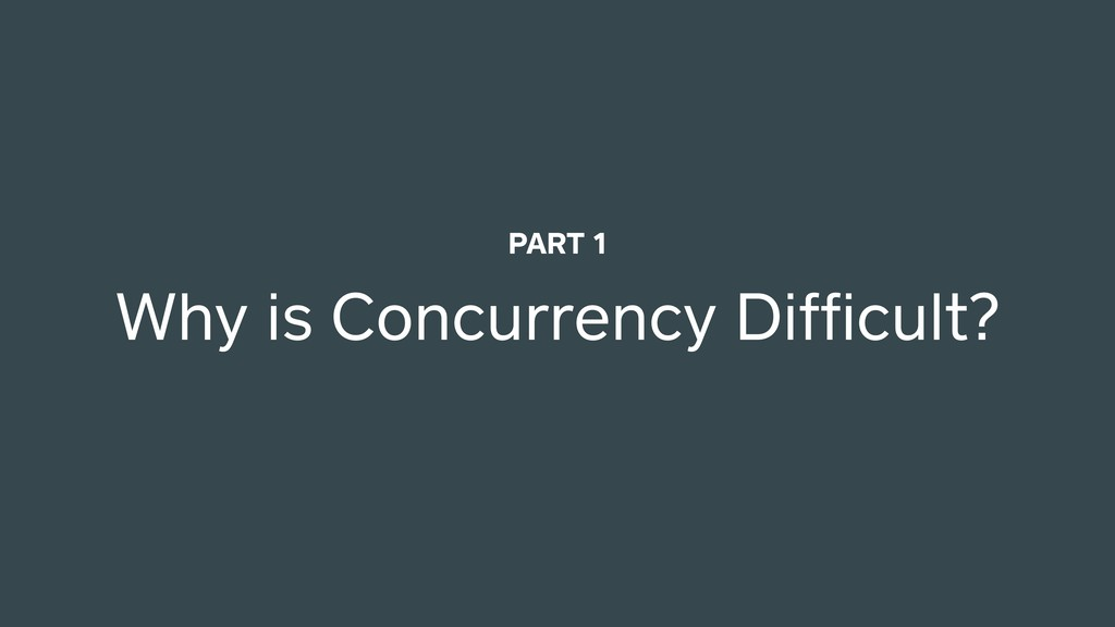 Why is Concurrency Difficult? PART 1