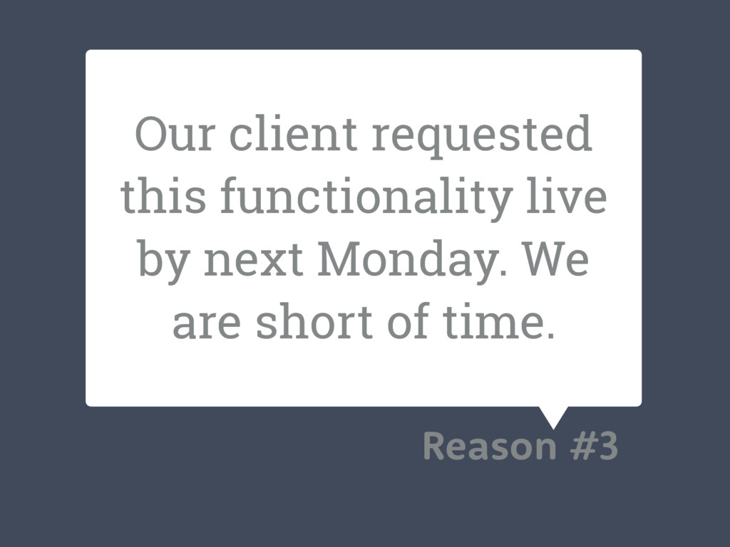 Our client requested this functionality live by...