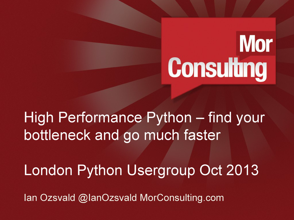 www.morconsulting.c High Performance Python – f...
