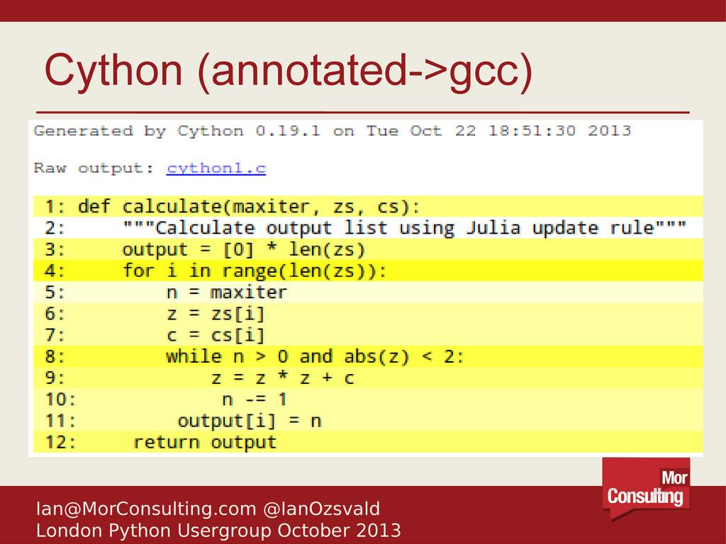 Ian@MorConsulting.com @IanOzsvald London Python...