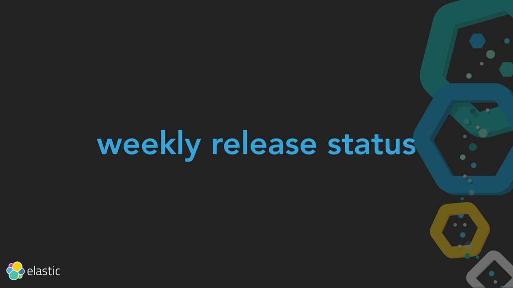 weekly release status