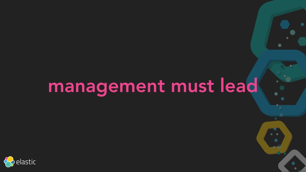 management must lead