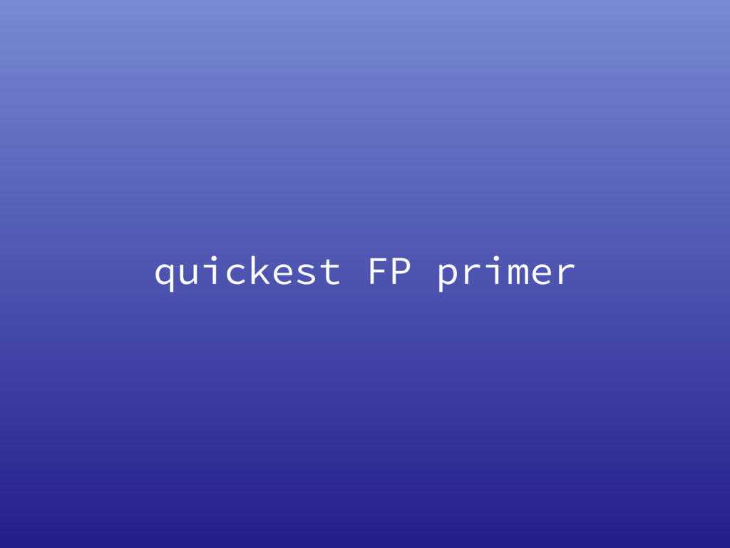 quickest FP primer