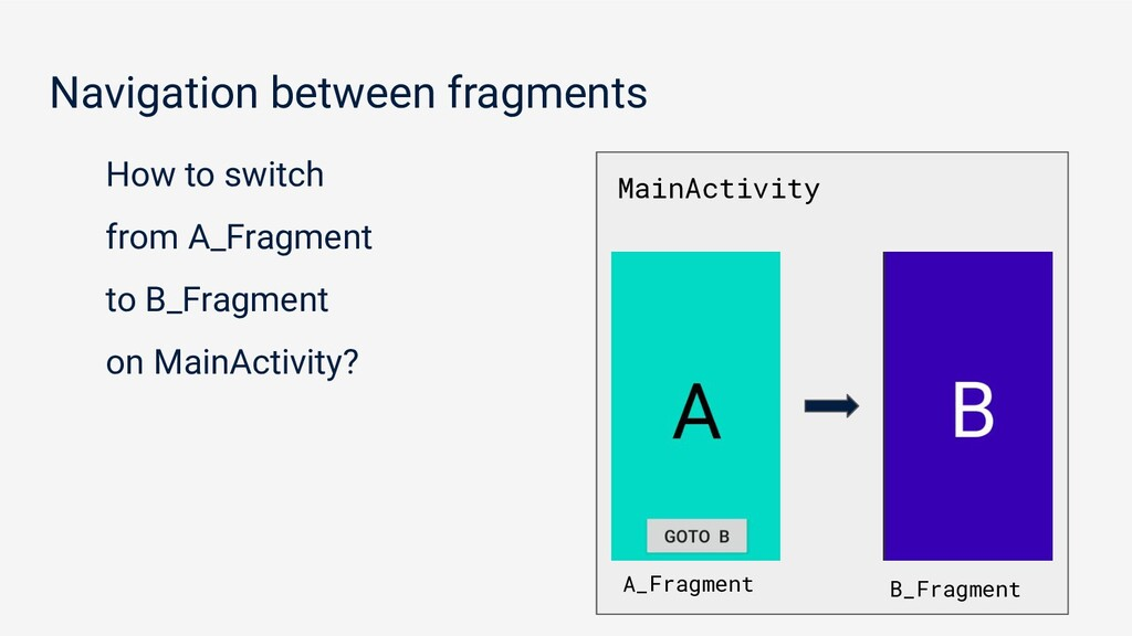 Navigation between fragments How to switch from...