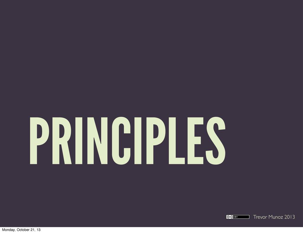 Trevor Munoz 2013 PRINCIPLES Monday, October 21...