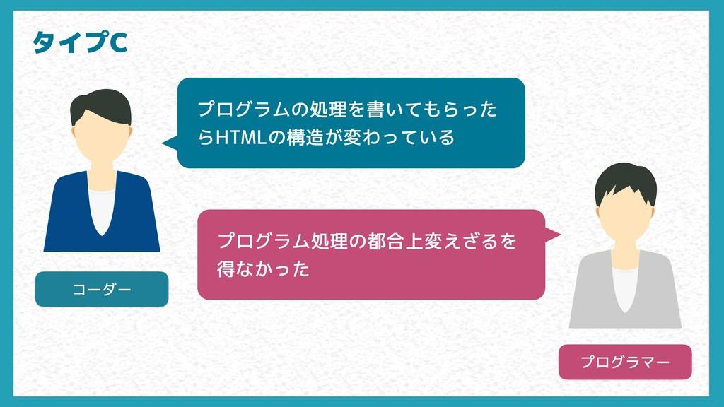 コーダー プログラマー プログラムの処理を書いてもらった らHTMLの構造が変わっている プロ...