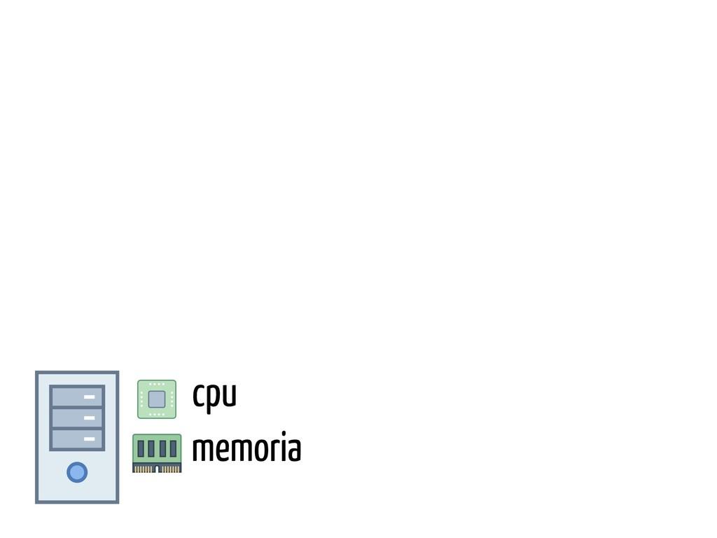 cpu memoria