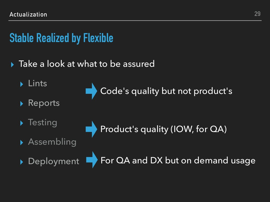 Actualization Stable Realized by Flexible ▸ Tak...
