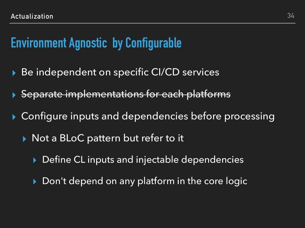 Actualization Environment Agnostic by Configura...