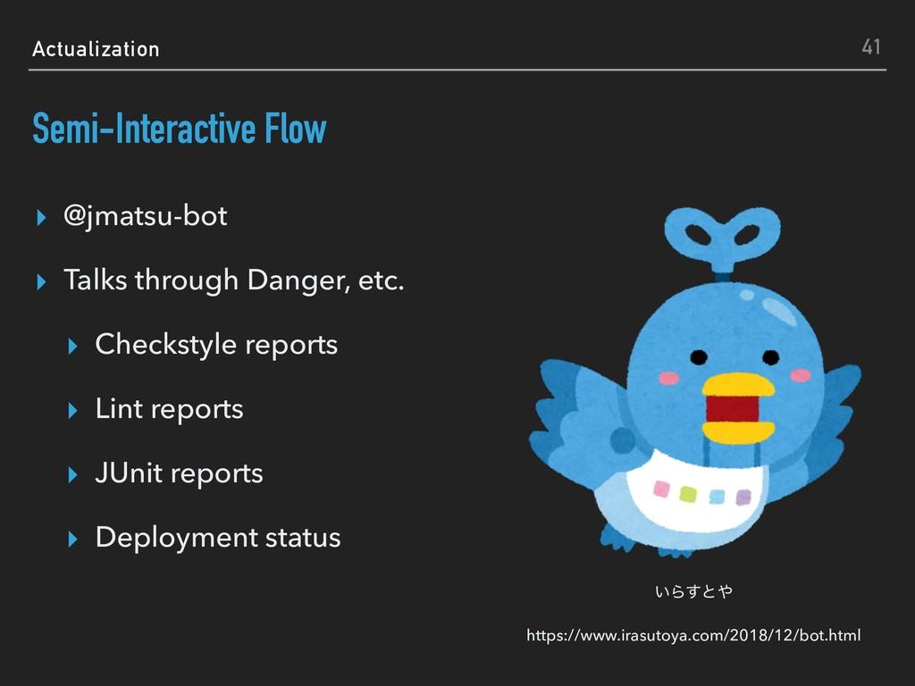 Actualization Semi-Interactive Flow ▸ @jmatsu-b...