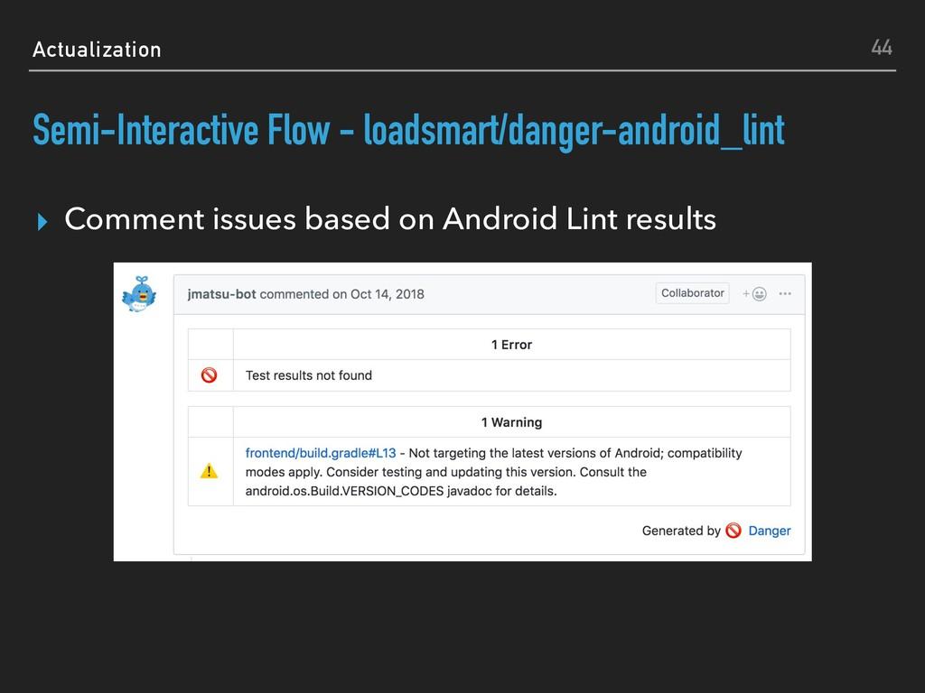Actualization Semi-Interactive Flow - loadsmart...