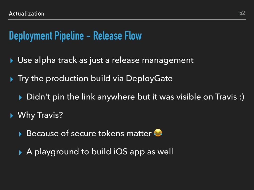 Actualization Deployment Pipeline - Release Flo...