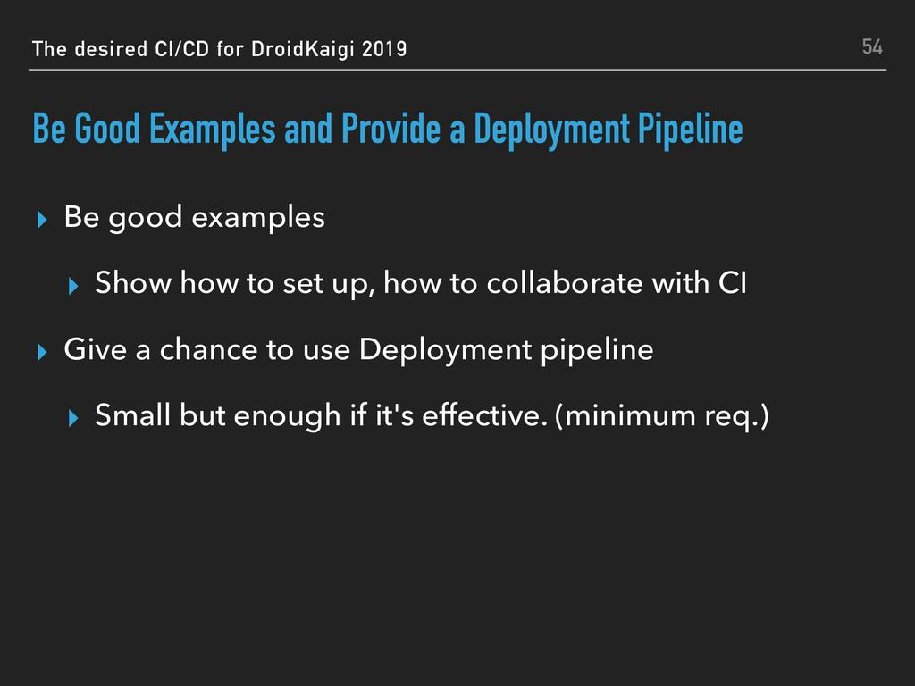 The desired CI/CD for DroidKaigi 2019 Be Good E...