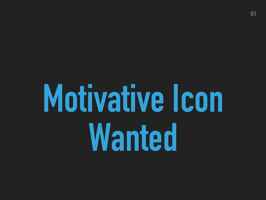 Motivative Icon Wanted 61