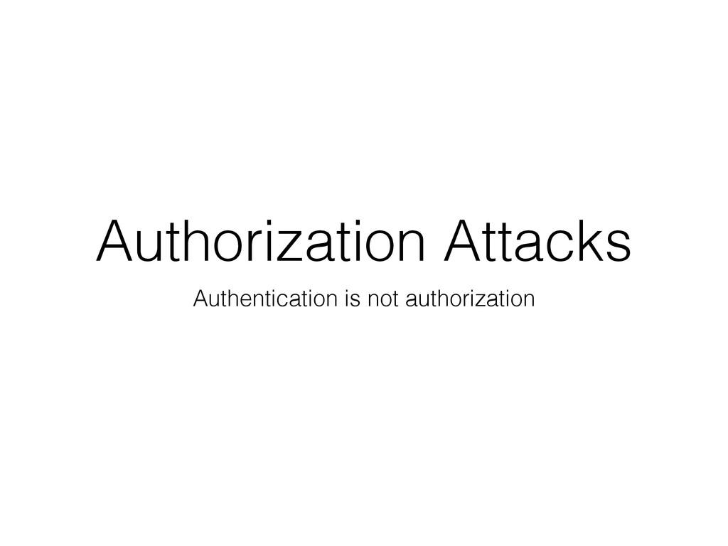 Authorization Attacks Authentication is not aut...