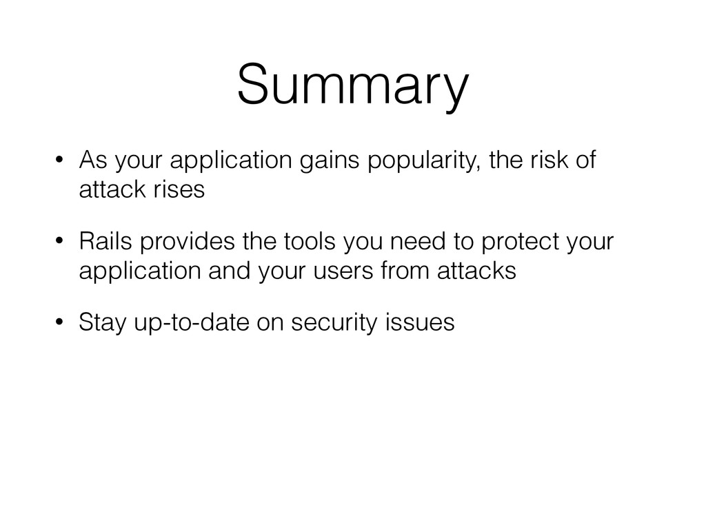 Summary • As your application gains popularity,...