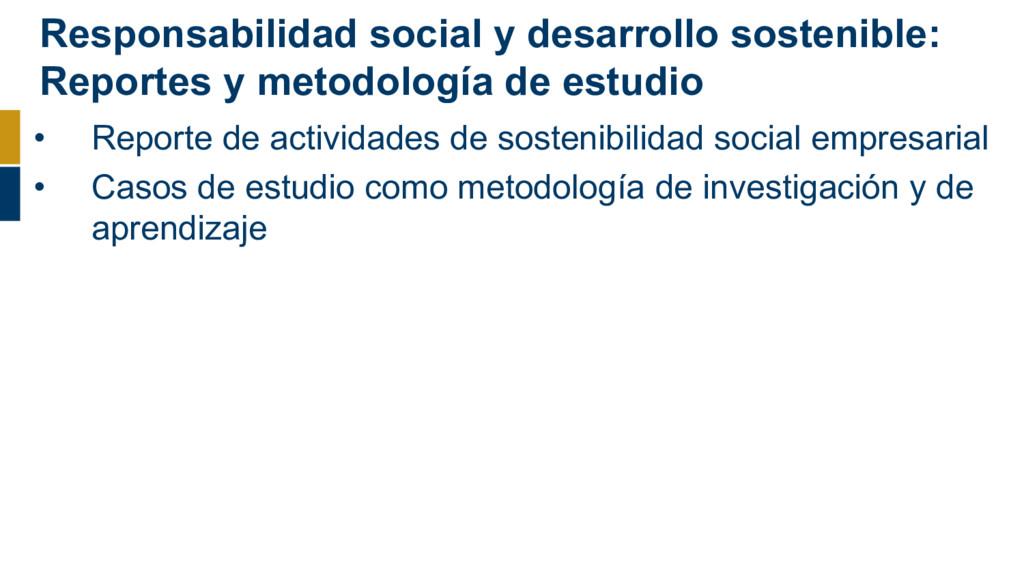 Responsabilidad social y desarrollo sostenible:...