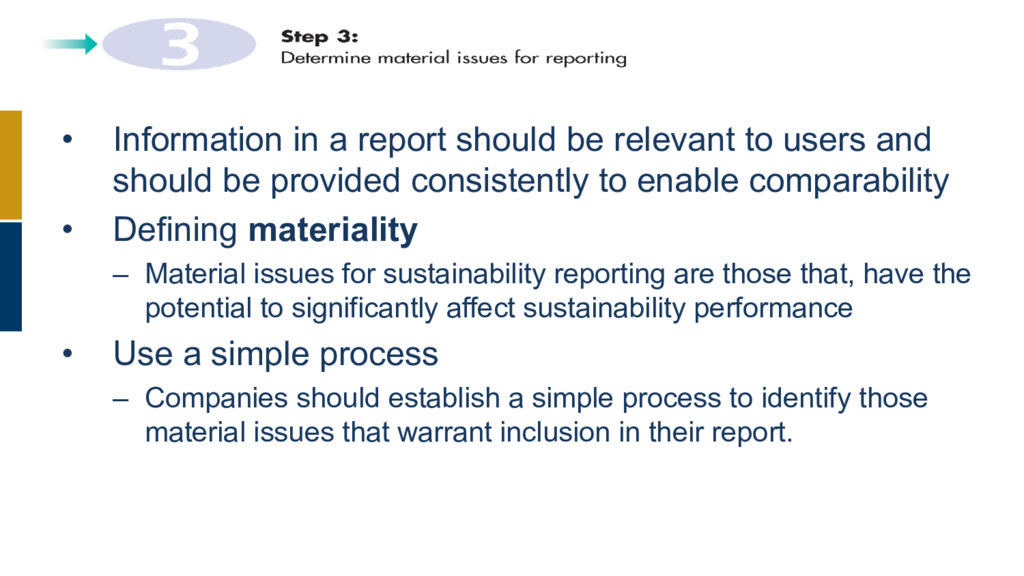 • Information in a report should be relevant to...