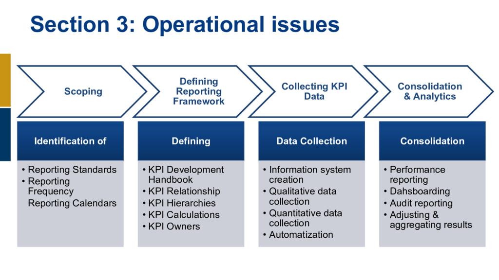 Scoping Defining Reporting Framework Collecting...
