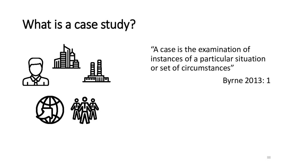 """What is a case study? """"A case is the examinatio..."""