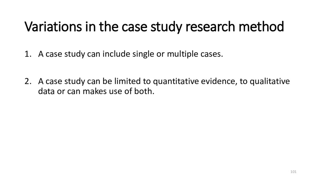 Variations in the case study research method 1....