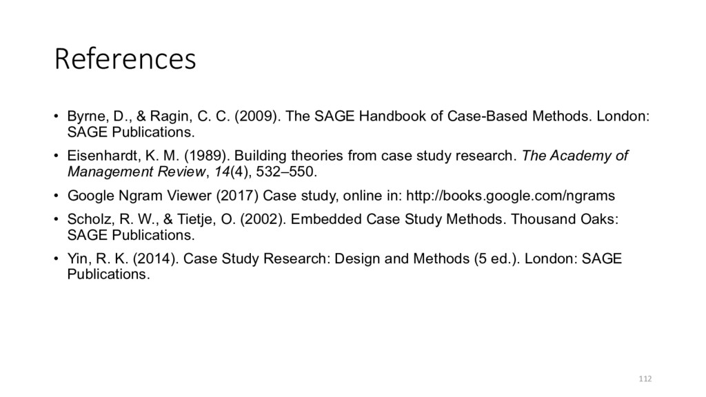 References • Byrne, D., & Ragin, C. C. (2009). ...