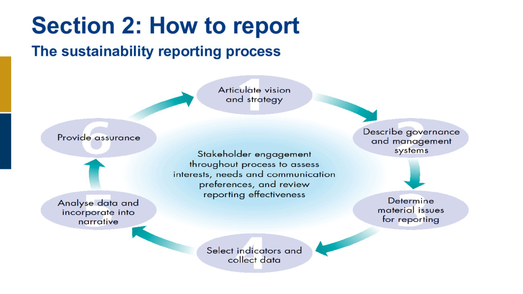 Section 2: How to report The sustainability rep...