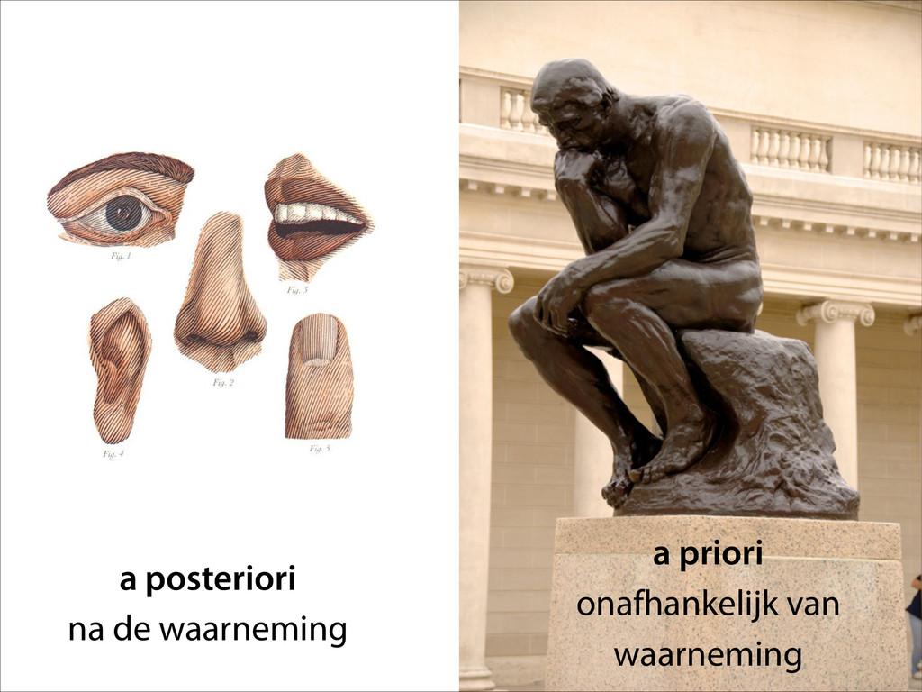 a posteriori na de waarneming a priori onafhank...