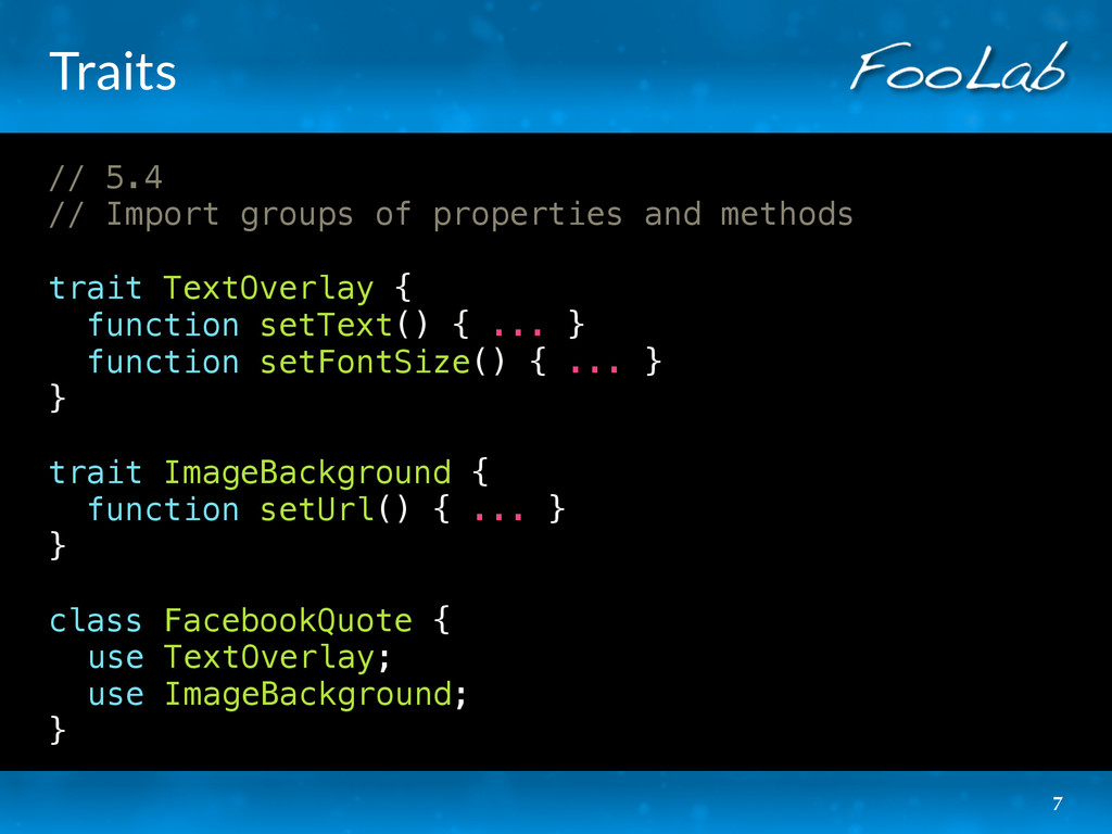 Traits // 5.4 // Import groups of properties an...