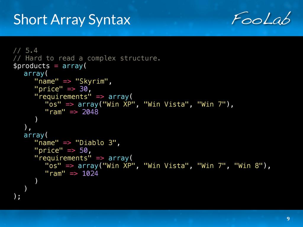 Short Array Syntax // 5.4 // Hard to read a com...