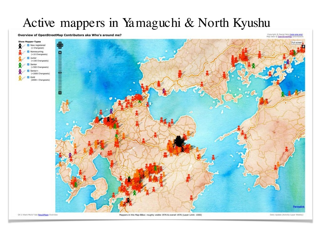 Active mappers in Y amaguchi & North Kyushu