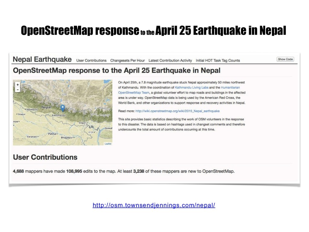 http://osm.townsendjennings.com/nepal/ OpenStre...