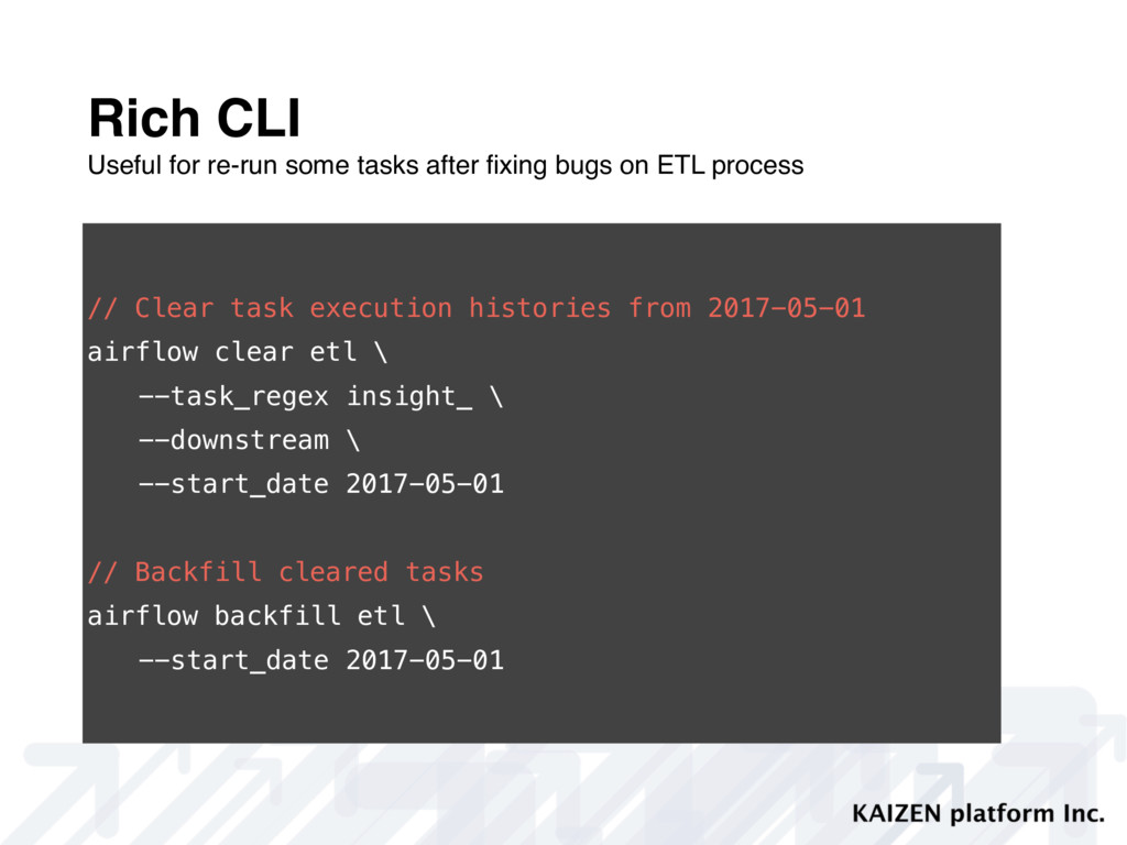 Rich CLI Useful for re-run some tasks after fixi...
