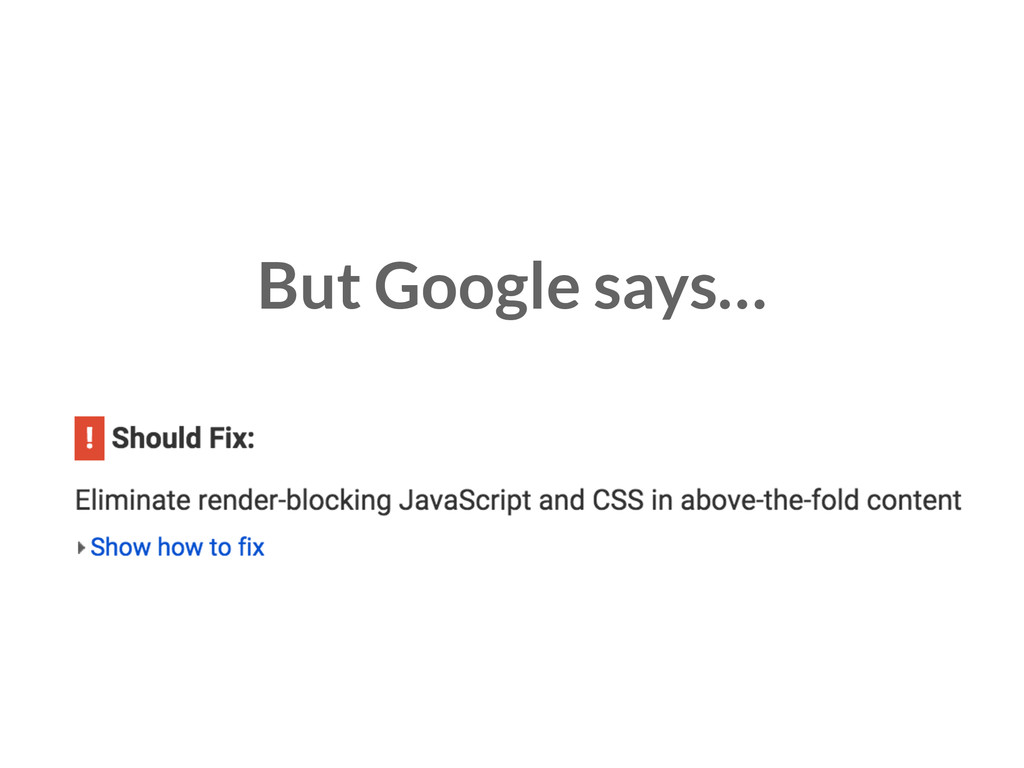 But Google says…
