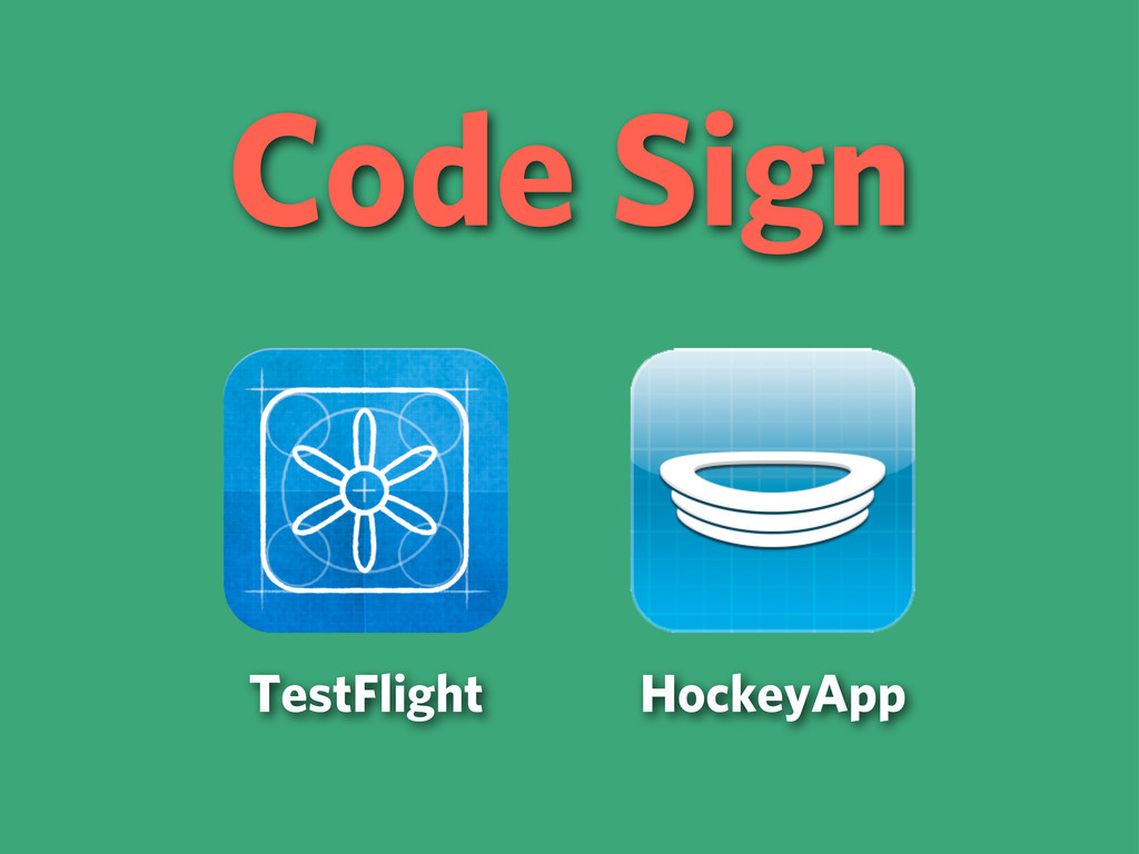 Code Sign TestFlight HockeyApp