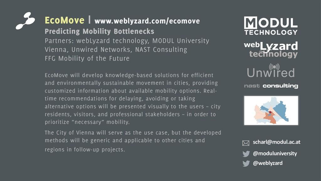 EcoMove | www.weblyzard.com/ecomove Predicting ...